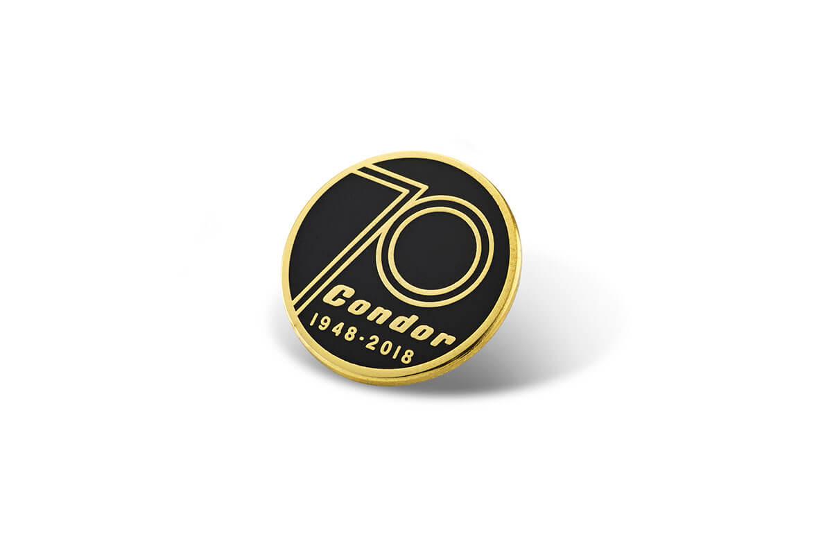 Condor 70th Anniversary Enamel Pin Badge