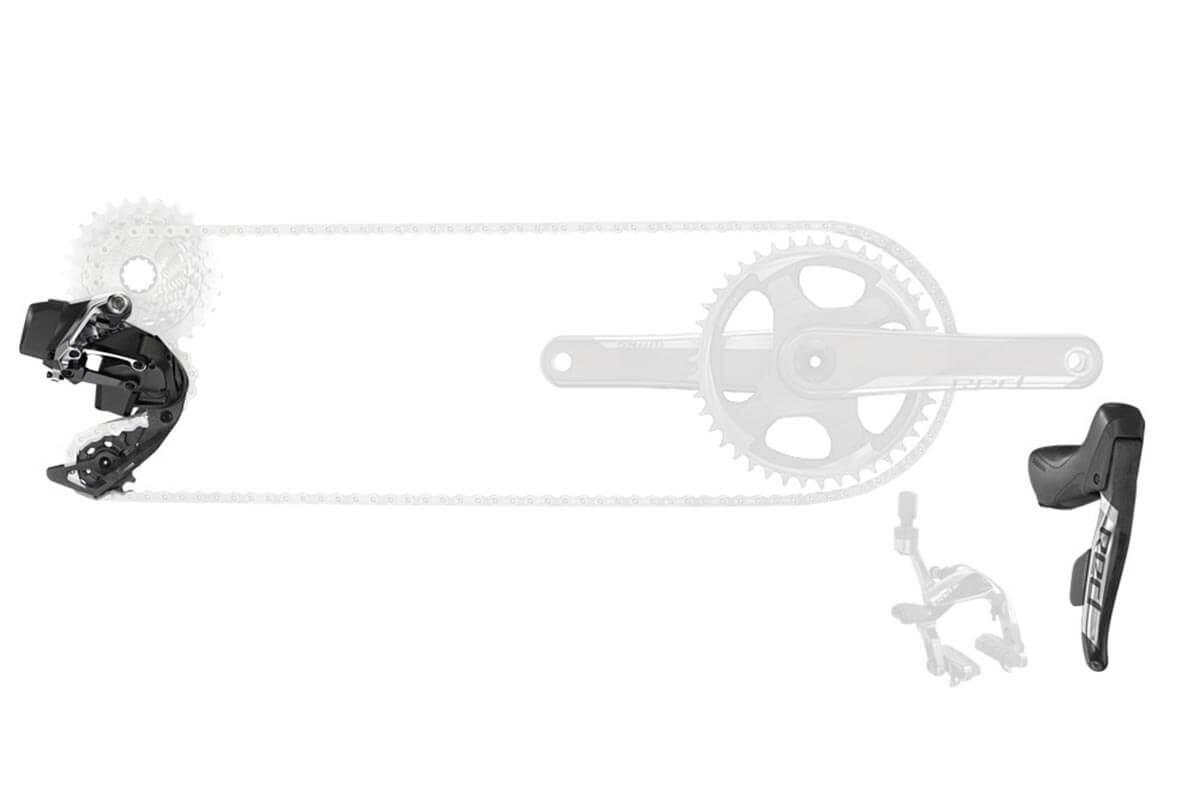 Sram Red E-tap Axs 1x12 D1 Electronic Road Rim Brake Gearset