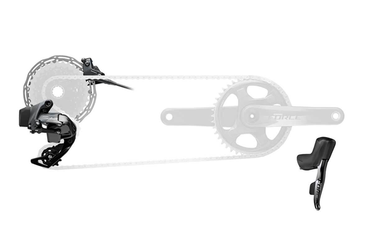 Sram Force E-tap Axs 1x12 Speed Flatmount Disc Gearset
